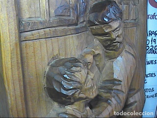 Arte: EXCELENTE TALLA SOBRE MADERA. EL DENTISTA DEL S.XVIII. 40 X 215 CM. - Foto 4 - 217692846