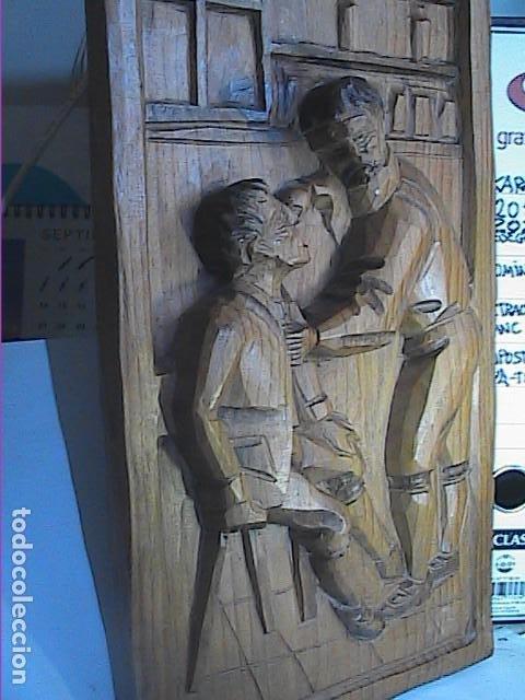 Arte: EXCELENTE TALLA SOBRE MADERA. EL DENTISTA DEL S.XVIII. 40 X 215 CM. - Foto 5 - 217692846