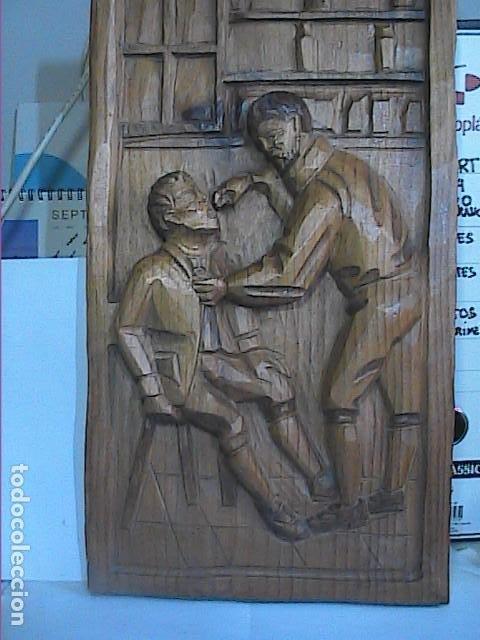 Arte: EXCELENTE TALLA SOBRE MADERA. EL DENTISTA DEL S.XVIII. 40 X 215 CM. - Foto 6 - 217692846