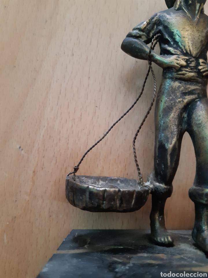 Arte: Figura Bronce y Marmol de Pescador Malagueño. Ver descripción - Foto 4 - 217910141