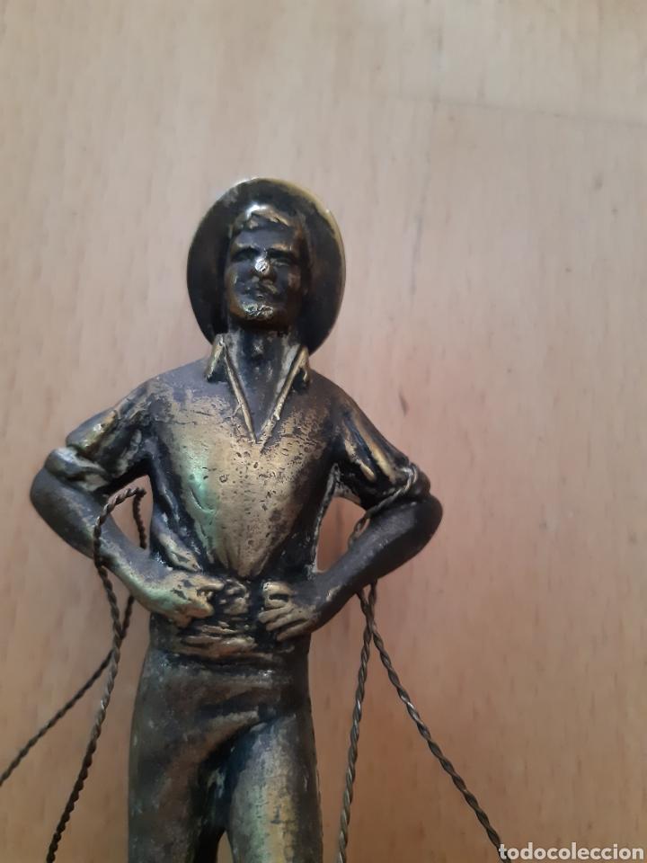 Arte: Figura Bronce y Marmol de Pescador Malagueño. Ver descripción - Foto 6 - 217910141