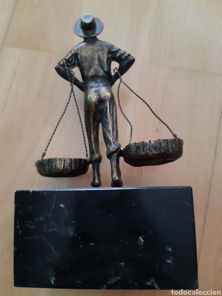 Arte: Figura Bronce y Marmol de Pescador Malagueño. Ver descripción - Foto 9 - 217910141