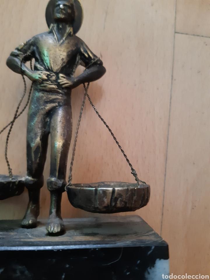 Arte: Figura Bronce y Marmol de Pescador Malagueño. Ver descripción - Foto 3 - 217910141