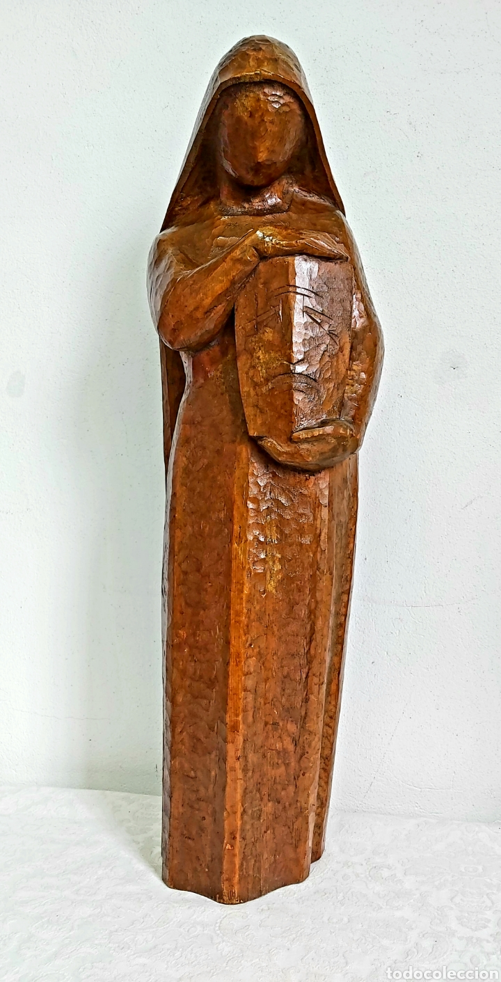 ESCULTURA DE MADERA. GABRIEL ALABERT BOSQUE (BARCELONA 1916) (Arte - Escultura - Madera)