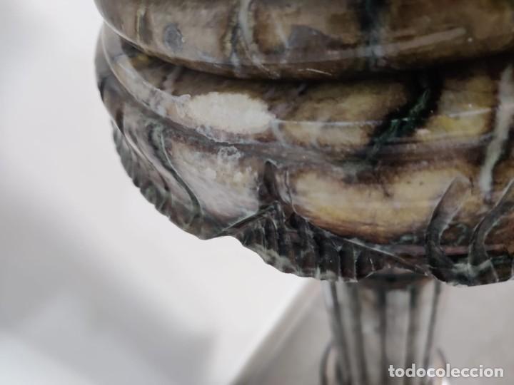 Arte: Cazador de Aguilas, escultra en resina con pedestal columna de mármol - Foto 6 - 218241897
