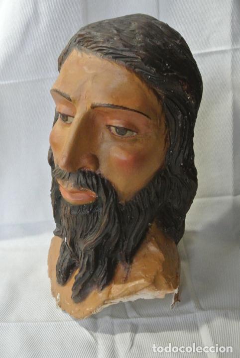 CABEZA, BUSTO DE IMAGEN RELIGIOSA PARA PASO DE SEMANA SANTA. SAN JUAN EVANGELISTA (Arte - Escultura - Resina)