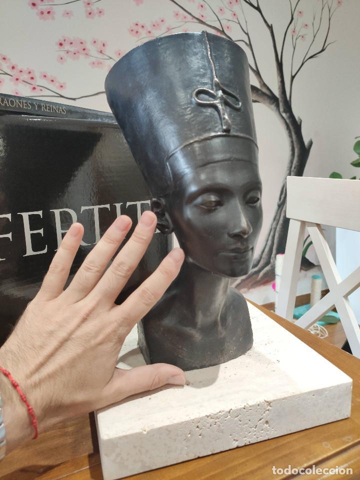 NEFERTITI SKEL ESCULTURA EN BRONCE 310/998 MEMFIS IMPECABLE EN EMBALAJE ORIGINAL (Arte - Escultura - Bronce)