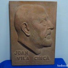 Arte: PLAFÓN EN TERRACOTA DE CAMIL FABREGAS DALMAU.JOAN VILA CINCA 1972.. Lote 218933140