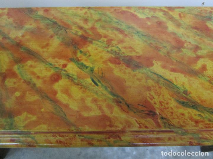 Arte: Preciosa Ménsula Barroca - Peana - Retablo en Talla de Madera Dorada en Pan de Oro - S. XVIII - Foto 18 - 219207367