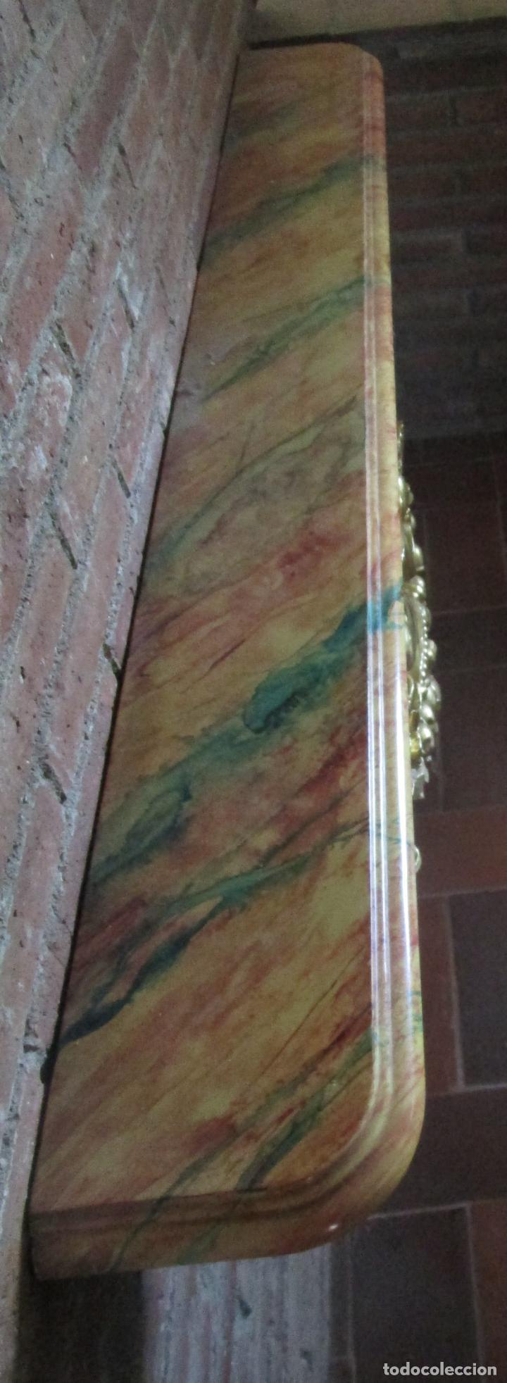 Arte: Bonita Consola, Ménsula Barroca - Peana - Retablo en Talla de Madera Dorada en Pan de Oro - S. XVIII - Foto 21 - 227996565