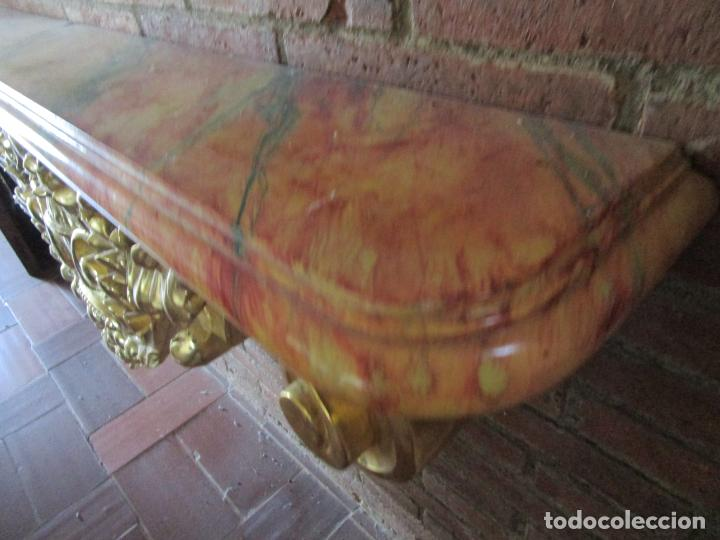 Arte: Bonita Consola, Ménsula Barroca - Peana - Retablo en Talla de Madera Dorada en Pan de Oro - S. XVIII - Foto 23 - 227996565