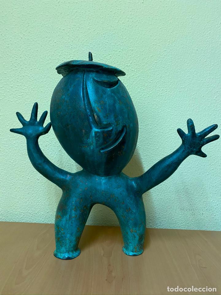 Arte: Escultura de resina de Juan García RIPOLLÉS - Castellón - 42x35 - Original - Foto 2 - 219862218