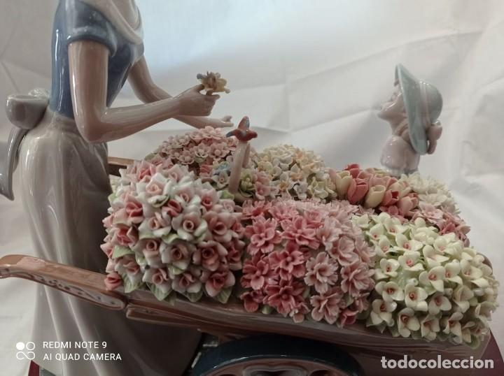 Arte: FIGURA PUESTO DE FLORES -PORCELANA NADAL - Foto 9 - 219999056