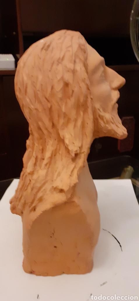 Arte: Busto de Cristo en terracota, 37 x 23cm - Foto 3 - 220881215