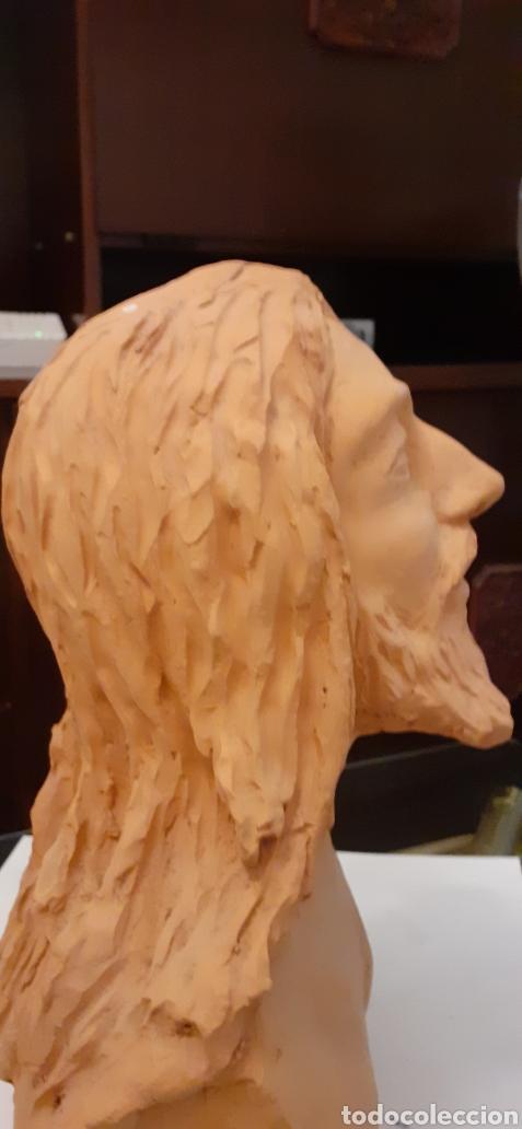 Arte: Busto de Cristo en terracota, 37 x 23cm - Foto 4 - 220881215