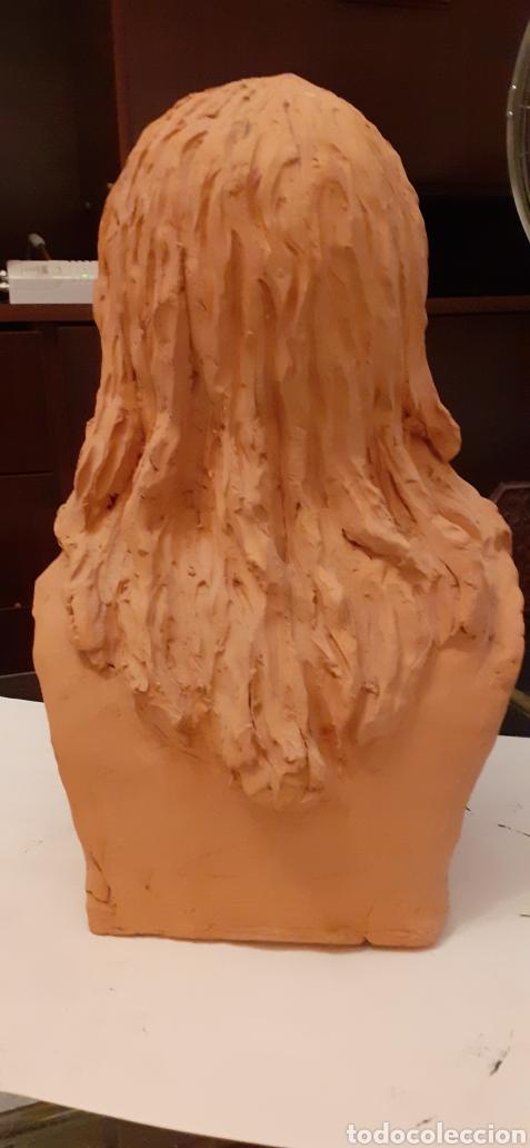 Arte: Busto de Cristo en terracota, 37 x 23cm - Foto 5 - 220881215
