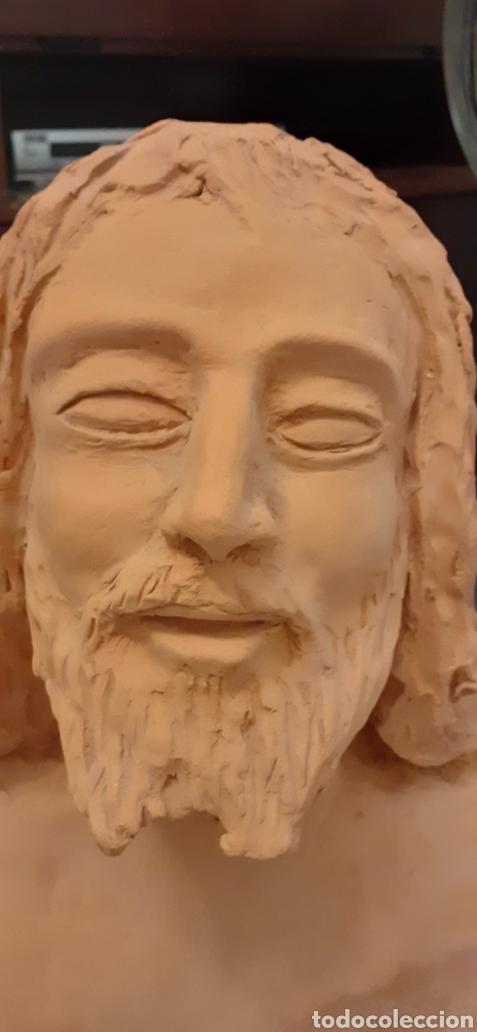 Arte: Busto de Cristo en terracota, 37 x 23cm - Foto 8 - 220881215