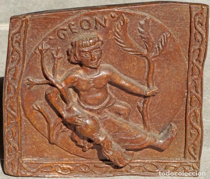 EL TAPIZ DE LA CREACIÓN. RIO GEÓN. REPRODUCCIONS EN BRONCE PATINADO (Arte - Escultura - Bronce)