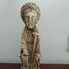 Arte: MUY ANTIGUA ESCULTURA EN PIEDRA DE SANTIAGO APOSTOL. Lote 221419380