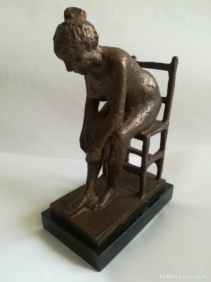 ANTONIO CAMPILLO , DESNUDO , FIGURA EN RESINA , PATINA EN BRONCE , MED. 28 X 19 X 10 CMS. CAM (Arte - Escultura - Resina)