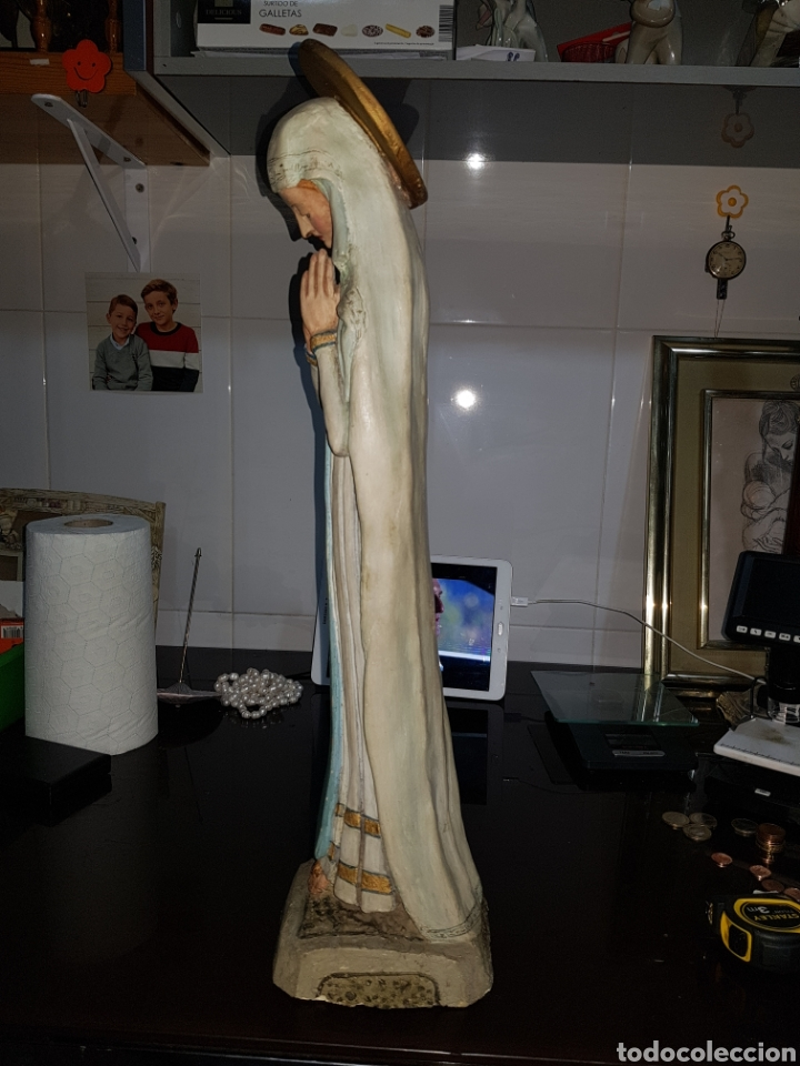 Arte: Virgen de la humildad. Extraordinaria obra de terracota hecha a mano. Antigua - Foto 2 - 221511665