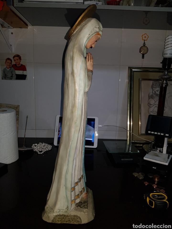 Arte: Virgen de la humildad. Extraordinaria obra de terracota hecha a mano. Antigua - Foto 4 - 221511665