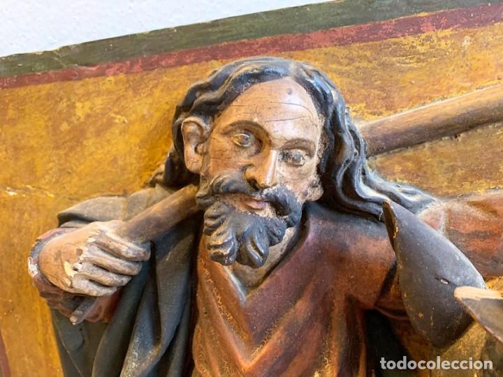 Arte: ANTIGUO RELIEVE EN TALLA DE MADERA S.XVII - Foto 8 - 221599546