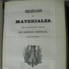 Arte: 1859 PRESERVACION DE MATERIALES TRATAMIENTO Y DESECACIÓN DE LA MADERA CMTE. SCHEIDNAGEL. Lote 221768708
