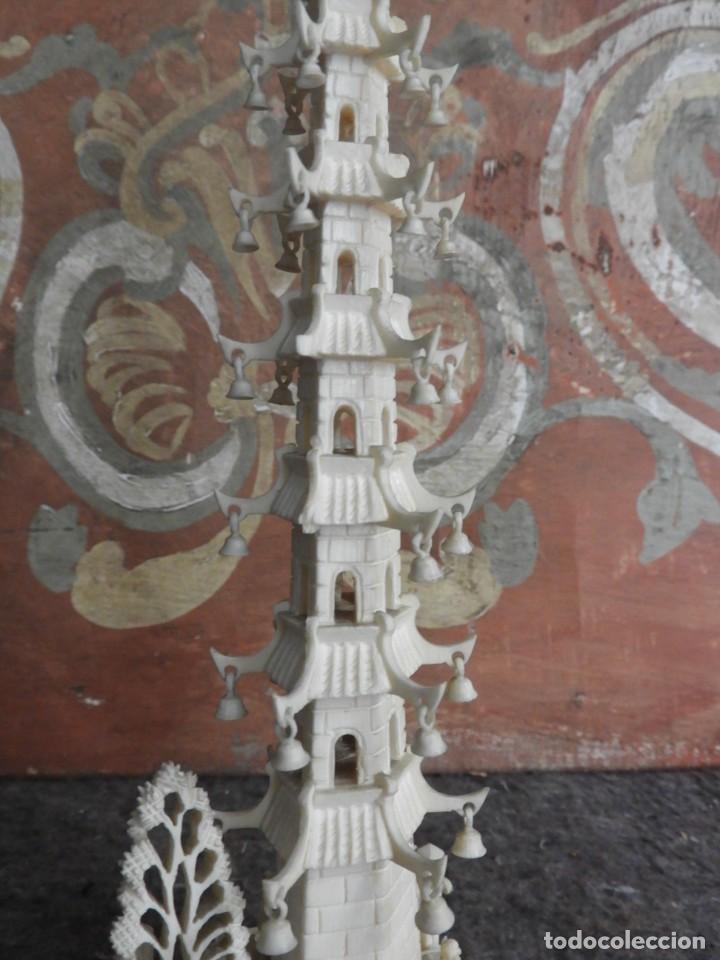 Arte: PAGODA DE MARFIL TALLA CHINA - Foto 6 - 221794047