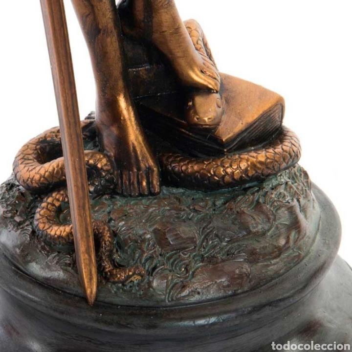 Arte: Bellísima Figura de la diosa romana de la justiciasu origen de la antigua Grecia. Resi - Foto 3 - 221949802