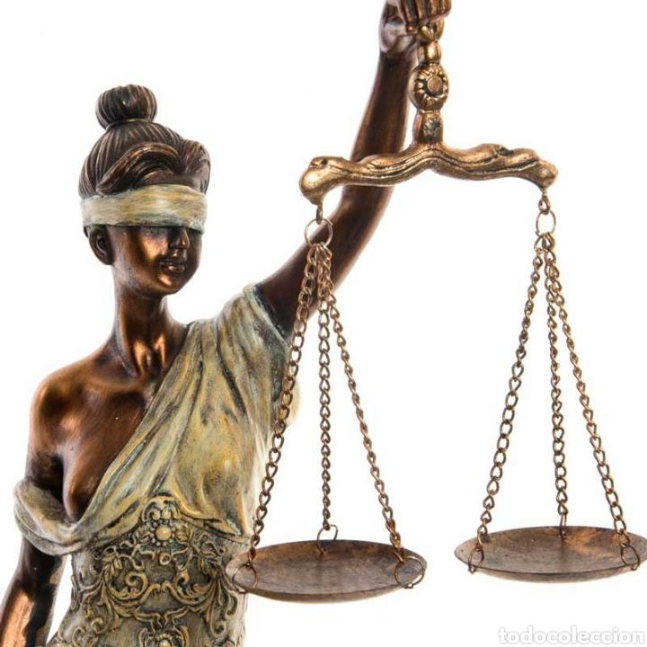 Arte: Bellísima Figura de la diosa romana de la justiciasu origen de la antigua Grecia. Resi - Foto 5 - 221949802