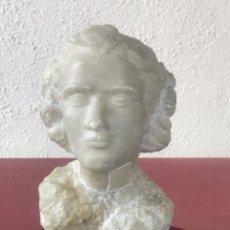 Arte: ESCULTURA DE ALABASTRO, BUSTO DE MUJER DE ANTONIO BALLESTER 1910-2001. FECHADA 1943.. Lote 222002331