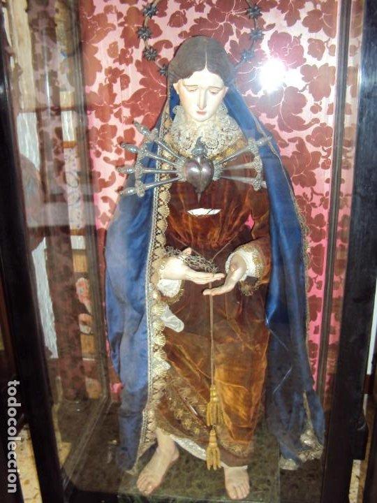 Arte: (ANT-201076)CAPIPOTA VIRGEN DOLOROSA SIGLO XIX - CAPILLA - Foto 3 - 222044692