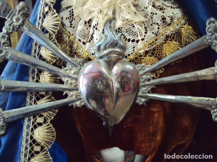 Arte: (ANT-201076)CAPIPOTA VIRGEN DOLOROSA SIGLO XIX - CAPILLA - Foto 6 - 222044692