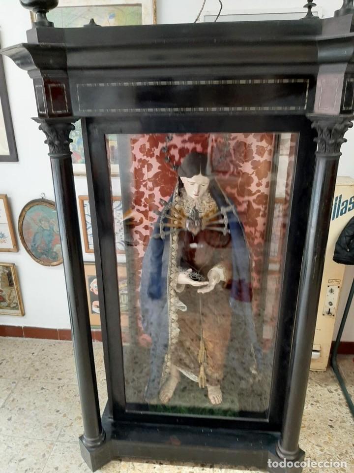 Arte: (ANT-201076)CAPIPOTA VIRGEN DOLOROSA SIGLO XIX - CAPILLA - Foto 52 - 222044692