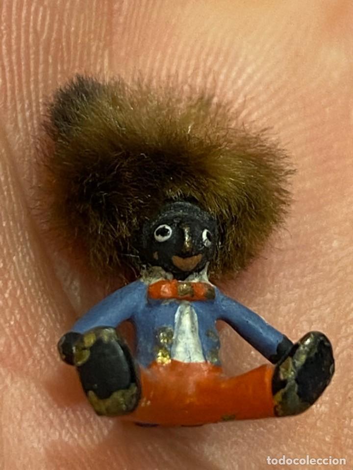 Arte: pequeño bronce viena vienne wien niño negro con enorme pelo y pajarita bronze s XIX XX 15x10mm - Foto 3 - 200805268