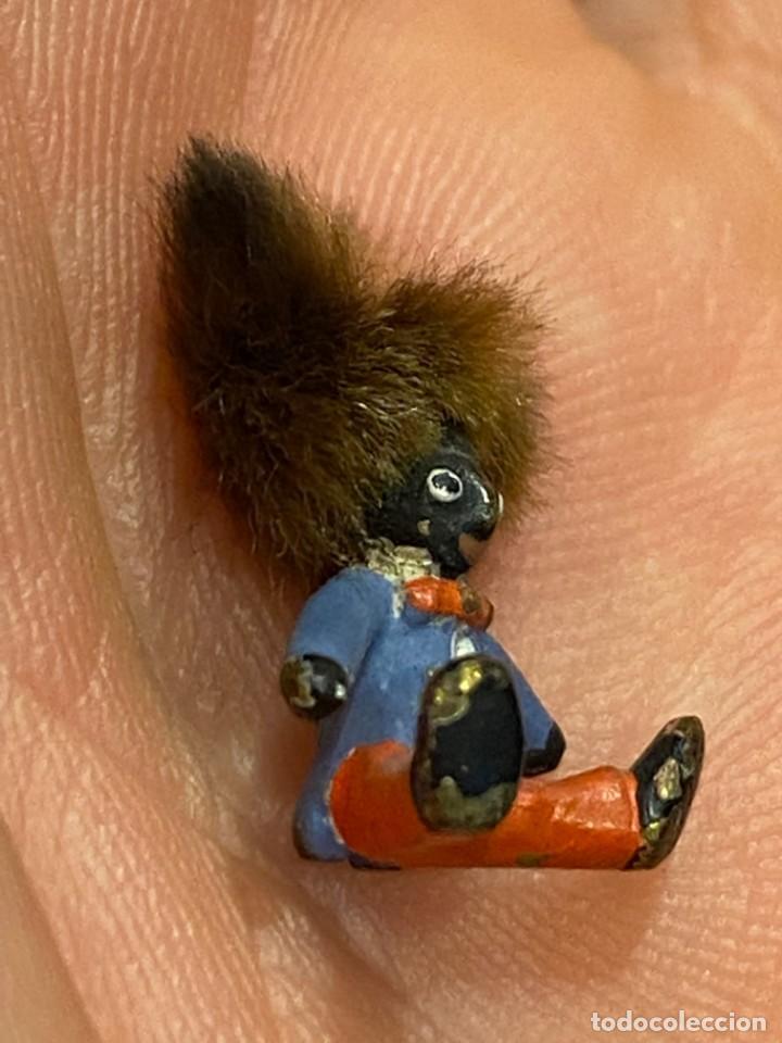 Arte: pequeño bronce viena vienne wien niño negro con enorme pelo y pajarita bronze s XIX XX 15x10mm - Foto 4 - 200805268