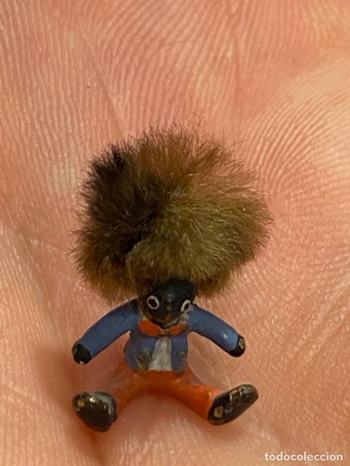 Arte: pequeño bronce viena vienne wien niño negro con enorme pelo y pajarita bronze s XIX XX 15x10mm - Foto 17 - 200805268