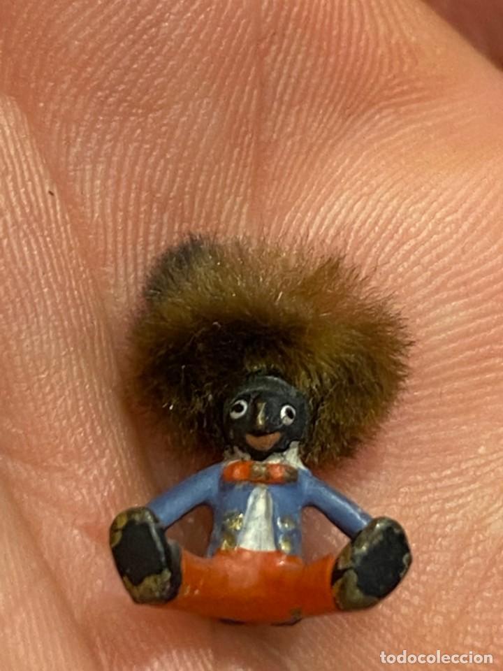 Arte: pequeño bronce viena vienne wien niño negro con enorme pelo y pajarita bronze s XIX XX 15x10mm - Foto 18 - 200805268