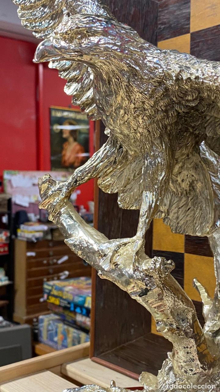 Arte: ENORME ESCULTURA DE UN AGUILA BAÑADA EN PLATA MARCADA JOYASUR PLATA - Ver fotos - Foto 2 - 222047138
