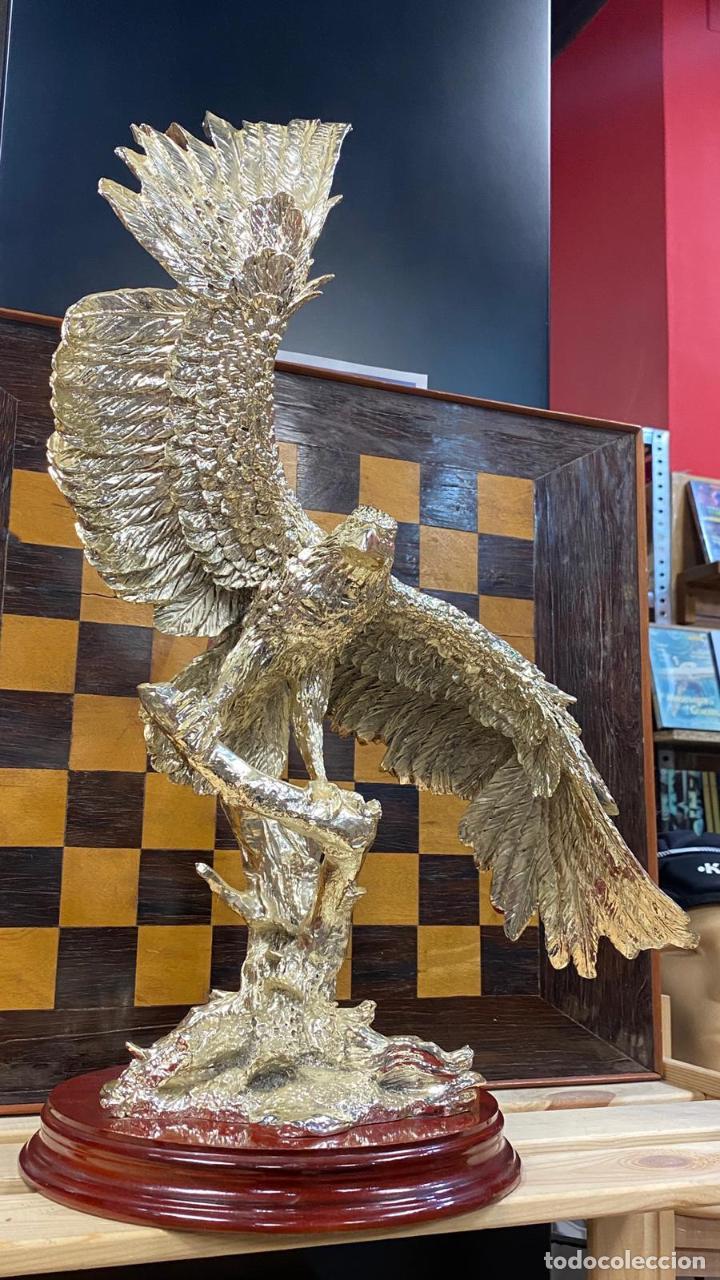 Arte: ENORME ESCULTURA DE UN AGUILA BAÑADA EN PLATA MARCADA JOYASUR PLATA - Ver fotos - Foto 8 - 222047138