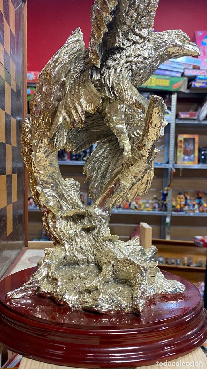 Arte: ENORME ESCULTURA DE UN AGUILA BAÑADA EN PLATA MARCADA JOYASUR PLATA - Ver fotos - Foto 10 - 222047138