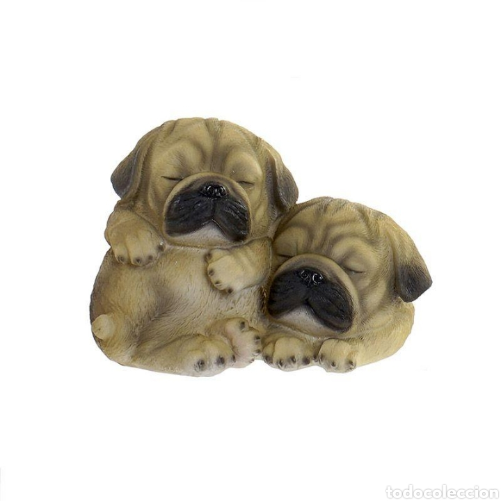 Arte: Preciosa Figura Perros durmiendo, realizados en resina policromados. - Foto 2 - 222168597