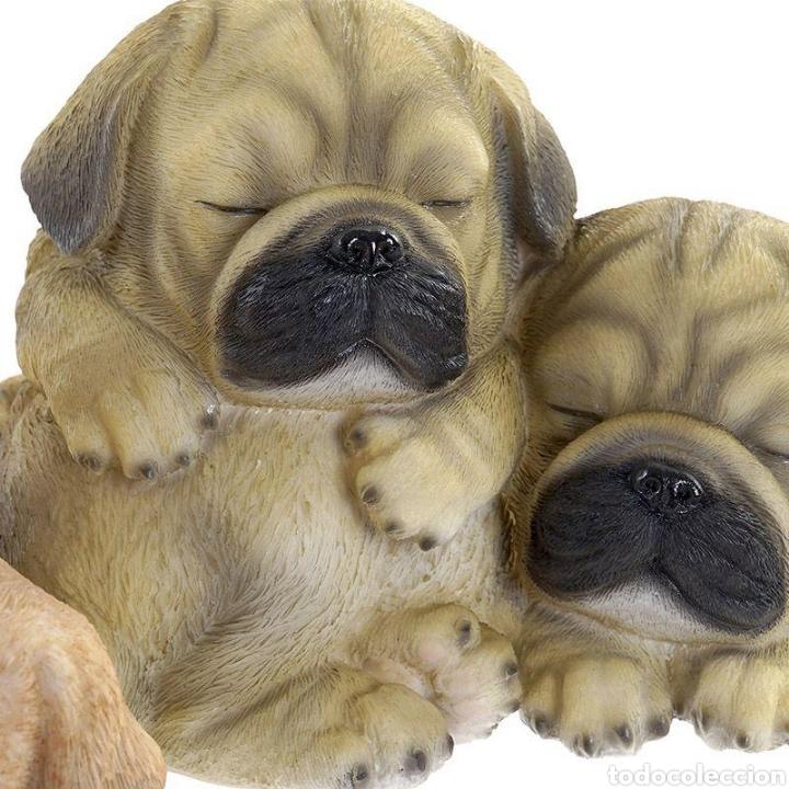 Arte: Preciosa Figura Perros durmiendo, realizados en resina policromados. - Foto 3 - 222168597