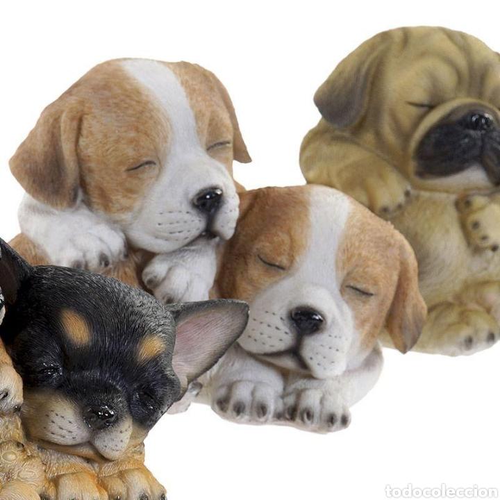 Arte: Preciosa Figura Perros durmiendo, realizados en resina policromados. - Foto 2 - 222168771