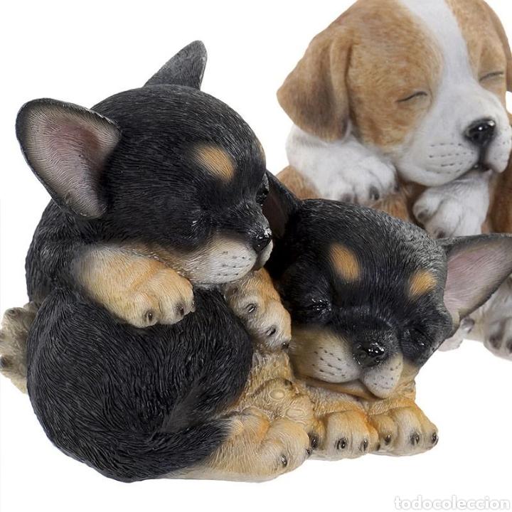 Arte: Preciosa Figura Perros durmiendo, realizados en resina policromados. - Foto 2 - 222170480