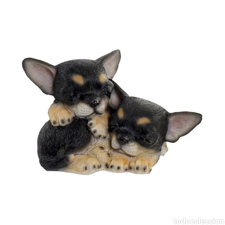 Arte: Preciosa Figura Perros durmiendo, realizados en resina policromados. - Foto 3 - 222170480