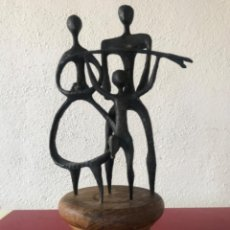 Arte: GRAN ESCULTURA DE BRONCE 1960'S. FIRMADA, DESCONOCEMOS AUTOR.. Lote 222200566