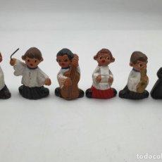 Arte: 5 ANGELITOS TERRACOTA ( MÚSICOS Y MAESTRO ). Lote 222235063