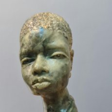 Arte: PRECIOSO BUSTO DE MUJER AFRICANA SIN FIRMA.. Lote 222288607